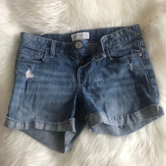 Express Pants - Express distressed jean shorts